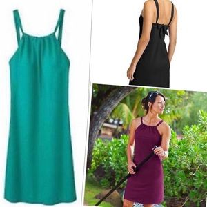 Athleta Kokomo dress green teal S drift swim